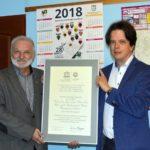 Przekazanie kopii certyfikatu UNESCO - spotkanie z Prezesem SMZT M. Kandzią - sierpień 2017