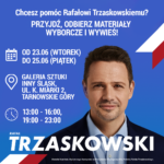 Plakaty i ulotki Rafała Trzaskowskiego